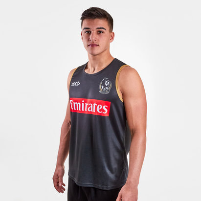 ISC Collingwood Magpies 2019 AFL Players Training Singlet