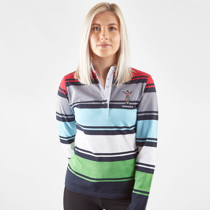 Harlequins 2018/19 Ladies L/S Stripe Classic Rugby Shirt