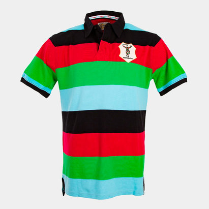 4f7ab3bc23e25 Harlequins 2018 19 Striped Hooped Rugby Polo Shirt
