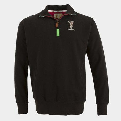 Harlequins 2018/19 1/4 Zip Rugby Sweatshirt