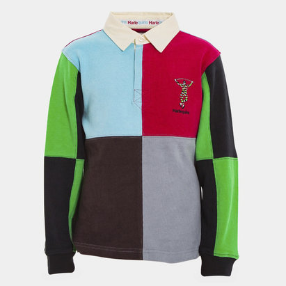 Harlequins 2018/19 Kids Retro L/S Classic Rugby Shirt