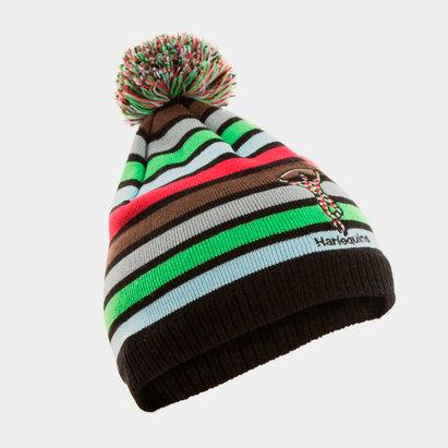 Harlequins Stripe Bobble Beanie Hat