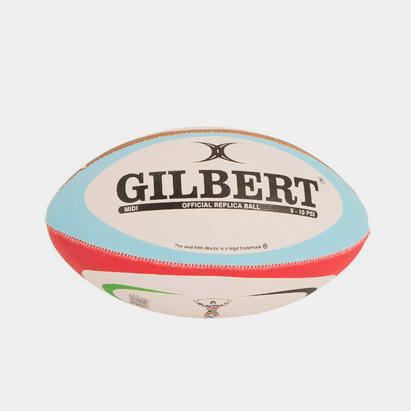 Gilbert Harlequins Midi Replica Rugby Ball