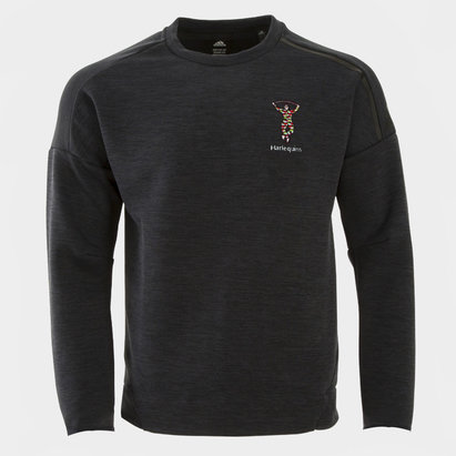 adidas Harlequins ZNE Crew Neck Rugby Sweatshirt