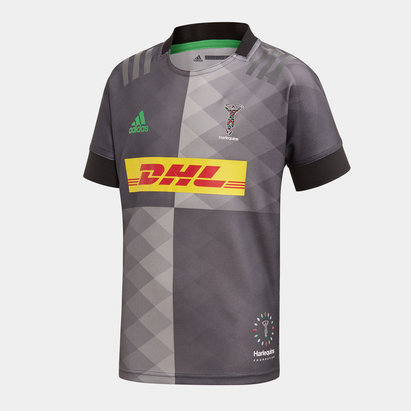 adidas Harlequins 2019/20 Kids Big Game S/S Replica Rugby Shirt