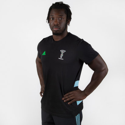 adidas Harlequins 2019/20 Players Cotton Rugby T-Shirt