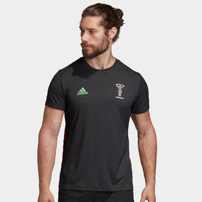 adidas Harlequins 2019/20 Players Performance Rugby Training T-Shirt