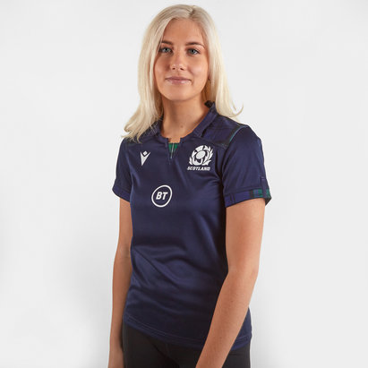 Macron Scotland 2019/20 Ladies Home S/S Replica Rugby Shirt