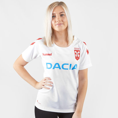 Hummel England Rugby League 2018/19 Ladies S/S Replica Rugby Shirt