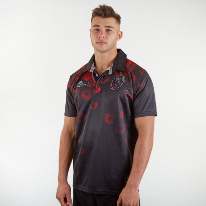 Samurai Army Rugby Union Remembrance Day Poppy S/S Rugby Shirt
