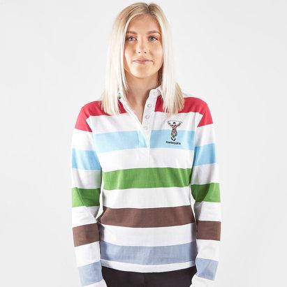 Harlequins Ladies L/S Stripe Rugby Shirt