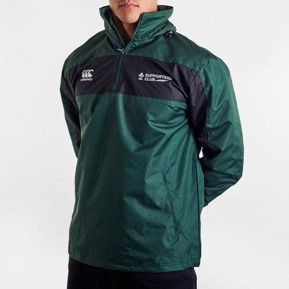 Canterbury Ireland IRFU 1/4 Zip Supporters Rugby Rain Jacket