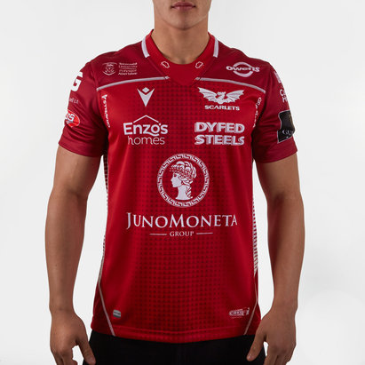 Macron Scarlets 2019/20 Home S/S Replica Rugby Shirt