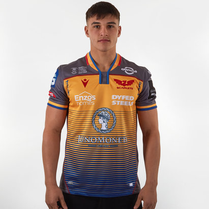 Macron Scarlets 2019/20 Alternate S/S Replica Rugby Shirt