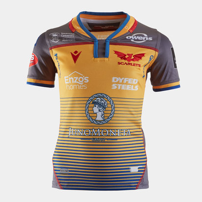Macron Scarlets 2019/20 Kids Alternate S/S Replica Shirt