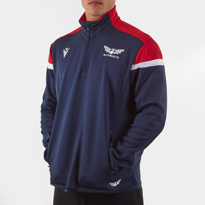 Macron Scarlets 2019/20 1/4 Zip Microfleece Jacket