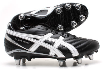 Lethal Scrum SG Rugby Boots Black / Silver / White