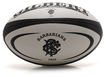Barbarians Official Replica Rugby Ball White/Black