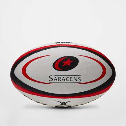 Saracens Official Replica Rugby Ball White/Black/Red