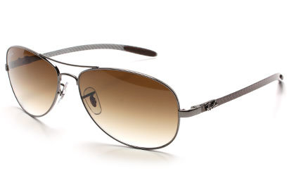 Ray-Ban 8301 Carbon Fibre Collection Gunmetal Sunglasses