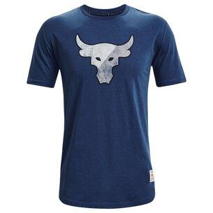 Under Armour Project Rock Short Sleeve T Shirt Mens