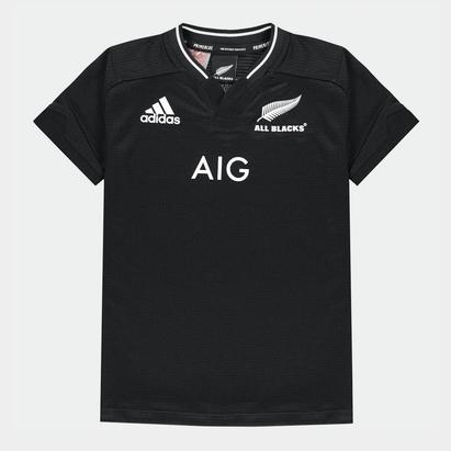 adidas New Zealand Rugby Shirt 2021 Junior