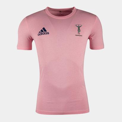 adidas Harlequins 2021/22 Adult Cotton T-Shirt