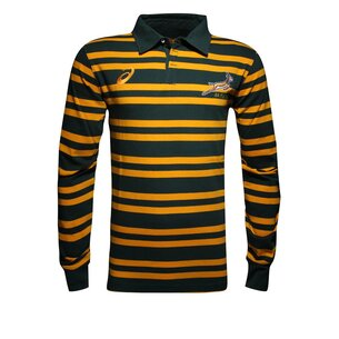 Asics South Africa Springboks Supporters Hooped Shirt Mens