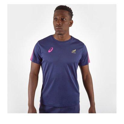 Asics South Africa Springboks Training T-Shirt Mens