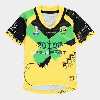 PlayerLayer Jamaica RLWC Junior Home Shirt 21/22