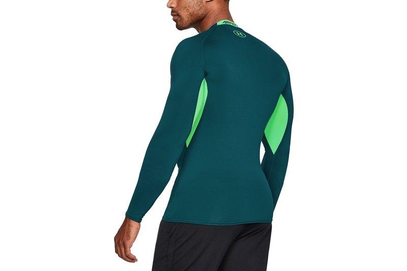 Under Armour Mens 2018 Heatgear Training Short Sleeve Compression Top Green Sporting Goods