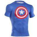 Captain America Logo Compression S/S T-Shirt