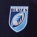Cardiff Blues 2019/20 Players Rugby Cotton Hooded Sweat