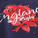 England 2016 Graphic Red Rose Hooded Rugby Sweat