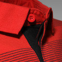 Biarritz 2014/15 Players Travel Stripe Rugby Polo Shirt