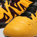 X 15.3 FG/AG Kids Leather Football Boots