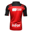 Crusaders 2016/17 Home Super Rugby S/S Rugby Shirt