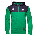 Ireland IRFU 2016/17 Off Field Full Zip Hooded Rugby Sweat