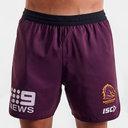Brisbane Broncos NRL 2020 Players Rugby Training Shorts