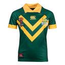 Australia Kangaroos RLWC 2017 Kids Home Pro S/S Rugby League Shirt