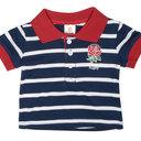 England RFU 2017/18 Infant Stripe Rugby Polo Shirt