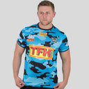 Gold Coast Titans 2018 NRL Players Warm Up Rugby T-Shirt