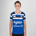 Bath 2018/19 Home Kids S/S Pro Rugby Shirt