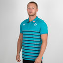 Ireland IRFU 2018/19 Cotton Stripe Rugby Polo Shirt