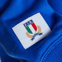 Italy 2018/19 Players Cotton Travel Hooded Rugby Sweat
