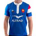 France 2018/19 Home Authentic Test S/S Rugby Shirt