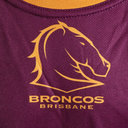 Brisbane Broncos NRL 2019 Kids Rugby Training T-Shirt