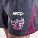 Manly Sea Eagles 2019 NRL Players Rugby Training Shorts