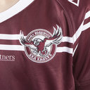 Manly Sea Eagles 2019 NRL Kids Home S/S Rugby Shirt
