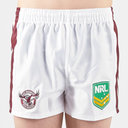Manly Sea Eagles NRL Kids Supporters Rugby Shorts